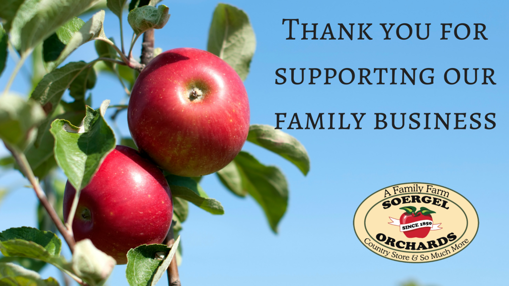 Thank you for supporting our family business
