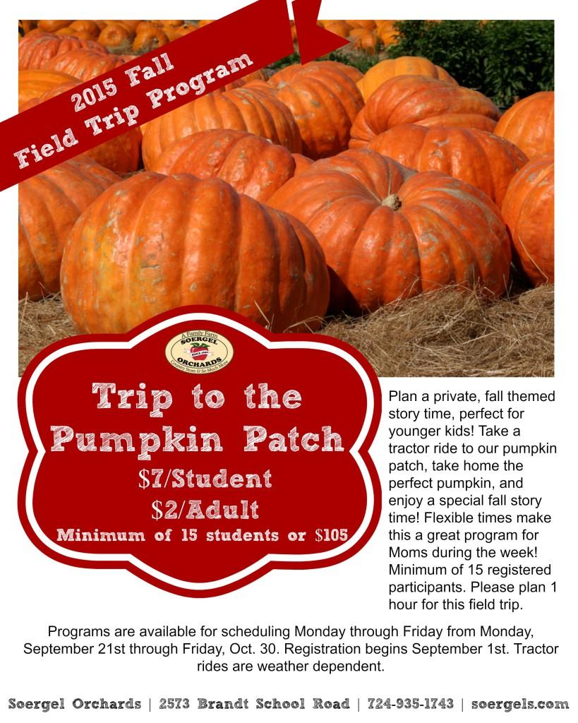 2015 Pumpkin Field Trip Flyer